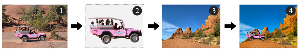 Header image showing the process from photo to transparent image